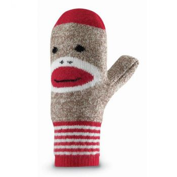 Red Heel Monkey MIttens Adult - New