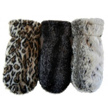 Faux Animal Mittens