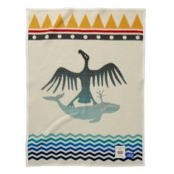 Pendleton Woolen Mills - Thunderbird and Whale Crib Blanket