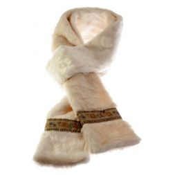Polar Mitts - Faux Fur Scarf with Trim
