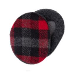- Plaid Black & Red Earbags