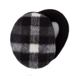 - Plaid Black & White Earbags