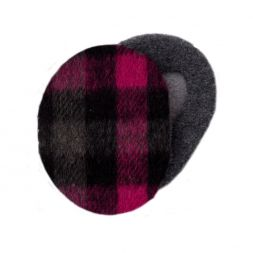 - Plaid Black & Pink Earbags