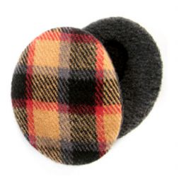 - Tan Plaid Earbags