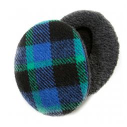 - Plaid Blue & Green Earbags