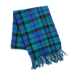 - Blue & Green Plaid Scarf
