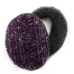 - Mohair Purple Earbags