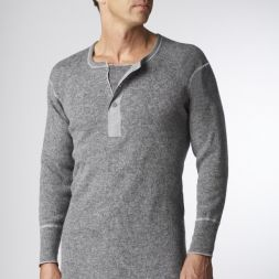 Stanfields - Heavy Rib Henley Placket Top