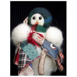 - Raggedy Time - Wooly® Primitive Snowman
