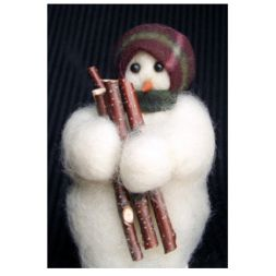 - Hauling Wool - Wooly® Primitive Snowman