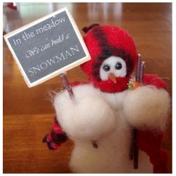 - In the Meadow - Wooly® Primitive Snowman