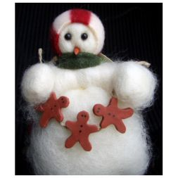 - Decorating Time - Wooly® Primitive Snowman
