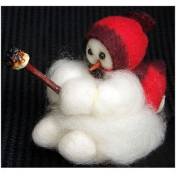 - Baby Roughing It - Wooly® Primitive Snowman